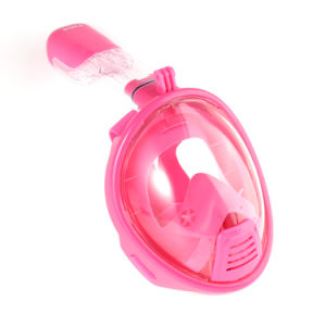 Factory Directly Supply Pink Kids Xs Full Face Snorkel Mask with Gopro Camera Mount Custom-Made pictures & photos
