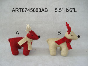 Knitted Christmas Decoration Standing Reindeer-2assorted pictures & photos