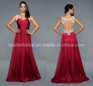 Backless Red Evening Dresses Lace Sweetheart Sexy Prom Dresses Ht819 pictures & photos