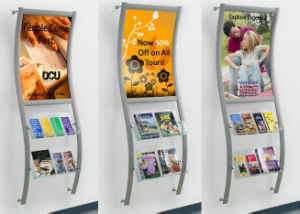 Wall Mounted Curved Graphic Display with Brochure Holders pictures & photos