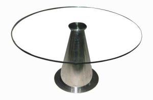 (ST-069) Home Furniture Round Tempered Glass Dining Table pictures & photos
