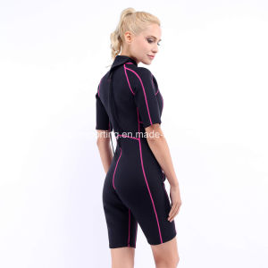 Women`S Shorty Neoprene Surfing Wetsuit with Nylon Both Sides (HX-L0454) pictures & photos