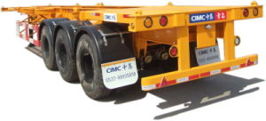 Cimc 40FT Three Axle Skeleton Semi-Trailer with Twist Locks Truck Chassis pictures & photos