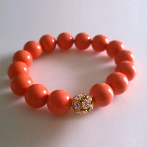 Xg-Be131 Fashion Jewelry Round Red Sponge Bracelet (XG-BE131)