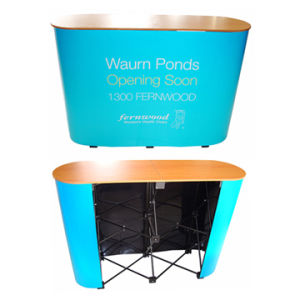 Aluminum Portable Pop up Table Advertising Display Counter for Promotion (PM-07) pictures & photos