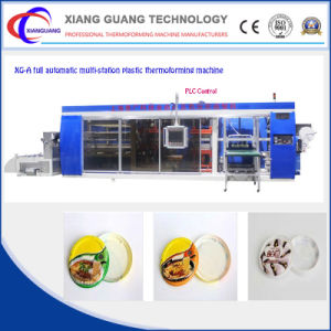 Multi-Station Plastic Thermoforming Machine for Snack Boxes pictures & photos