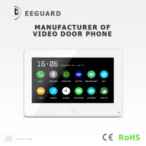 Touch Screen 7 Inches Intercom Home Security Video Door Phone with Memory pictures & photos