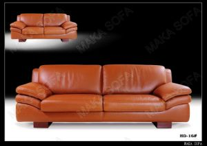 Modern Leather Sofa (HD-16#)