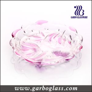 Flower Carving Color and Frosted Glass Plate (GB1731XM/PDS) pictures & photos