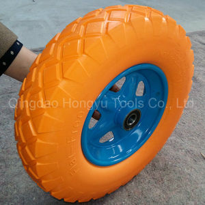 Painted Metal Rim Colorful PU Foam Wheels pictures & photos