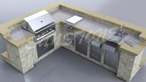 Built-in Gas Grill for Outdoor Kitchen