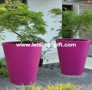 Fo-301 Tapered Round Modern Fiber Glass Flower Pot pictures & photos