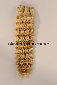 100% Natural Blond Color Human Hair Hair Extensions pictures & photos