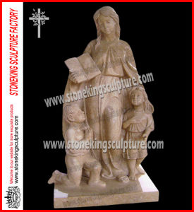 Hand Carved Marble Mother and Child Sculptures (SK-2867) pictures & photos
