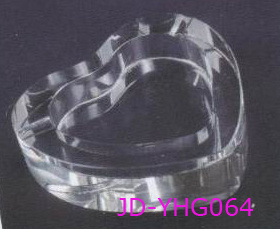 New Design Heart Shaped Clear Crystal Ashtray, Glass Smoking Set (JD-YG-007) pictures & photos