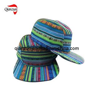 Fashion 5 Panel Flat Brim Hat (ZJ029) pictures & photos