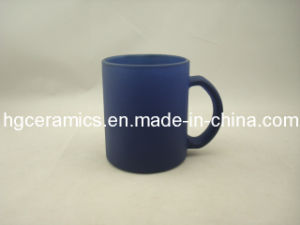 11oz Blue Color Change Glass Cup, Stain Finished pictures & photos