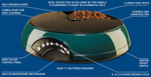 Pet Products--3 Meal Pet Feeder