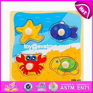 New Design Children Matching Toy Wooden Knob Puzzle W14m117 pictures & photos