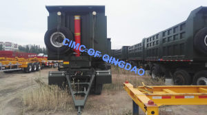 Cimc 3 Axles Side Dumping Tipper Semi Trailer Truck Chassis pictures & photos