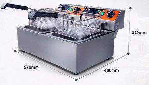 Commercial Two Tank Two Basket Deep Fryer pictures & photos