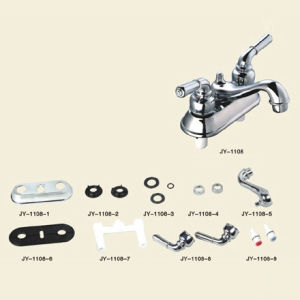 4 Inch ABS Plastic Basin Faucet with Chrome Surface pictures & photos