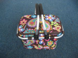 Red Flower Double Slide Cooler Bag (WF10-1293)