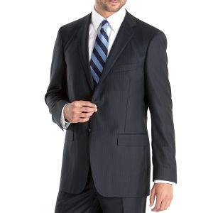Blue Striped Business Men Suit