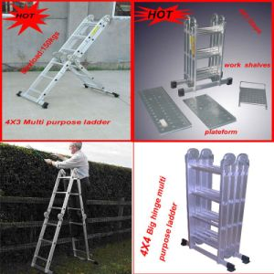 Big Hinge 4x4 Mutipurpose Aluminum Ladder (YND-L603E) pictures & photos