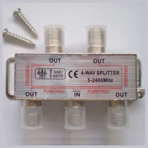 CATV Splitter 5-2400MHz (4 Way) pictures & photos