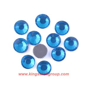Ss16 4mm Capriblue Flatback DMC Hot Iron on Stones Hotfix Rhinestones Dress Beading for Dress Decoration pictures & photos