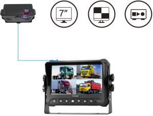 4CH 1080P Mobile DVR with 7 Inches HD Monitor pictures & photos