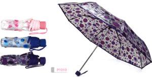 3 Fold Button Manual 8PCS Poe Heat Transfer Printing, Small MOQ Limited, Umbrella (KP1010)