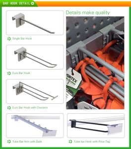 Shop Fitting Metal Retail Bar Display Hooks for Clothes pictures & photos