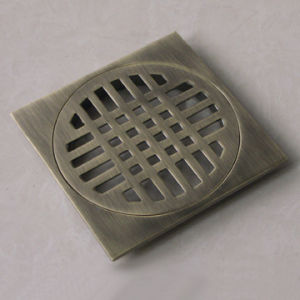 "4""Zinc Floor Drain & Brass Drainer (D43001) pictures & photos"