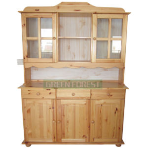 Wooden Furniture Solid Wood Dresser with 3 Door 3 Drawers