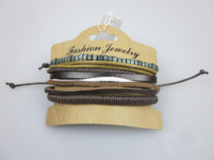 Men Leather Bracelet, Fashion Jewelry Handmade, Custom Infinity Leather Bracelet pictures & photos