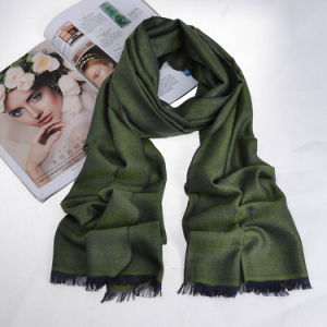 Men′s Fashion Silk Cashmere Scarf Luxury Finishing High Quatity pictures & photos