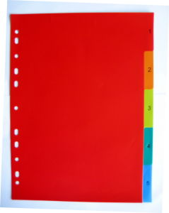 5 Pages Colored PP Index Divider (BJ-9027) pictures & photos