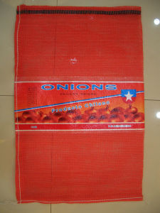 Middle Coated Leno Mesh Bag/ Mesh Bag with Printing/Custom Logo pictures & photos