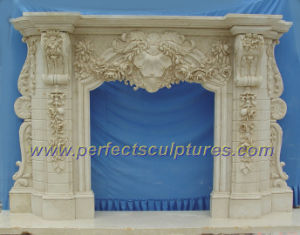 Stone Marble Fireplace for Fireplace Mantel (QY-LS256) pictures & photos
