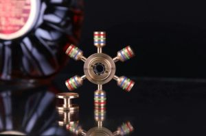 Top Seller Ceramic Bearing Copper Brass Six Axis Fidget Spinner pictures & photos