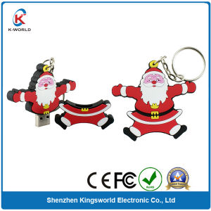PVC Christmas USB Flash Drives for Gifts (KW-0206)