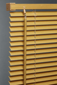 Yellow PVC Venetian Blinds Waterproof with Steel Headrail / Bottomrail pictures & photos