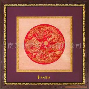 24k Pure Gold Foil Brocade Picture/Gold Craft - 3