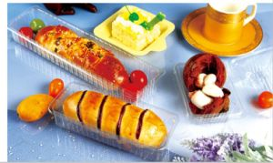 Disposable Plastic Food container Sushi Dessert Bread Cake Box (made in China) pictures & photos