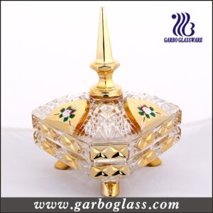 Gold Candy Jar, Glass Sugar Pot in Color Box Packing (GB1802S-DN) pictures & photos