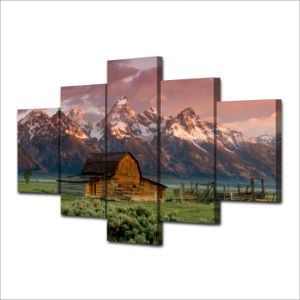 Canvas Art Printed Barn Rocky Mountains Painting Canvas Print Room Decor Print Poster Picture Canvas Mc-059 pictures & photos