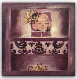 Hand Brush Stroke Canvas High Gloss Oil Board Crystal Painting - Portrait Marilyn Monroe