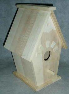 Unfinished Birdhouse - One Hole (LH819)